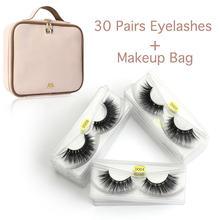 30/50 pairs/pack 3d Mink Lashes Wholesale Mix False Eyelashes Hand Made Full Strip Lashes Makeup Eyelashes Kit faux cils