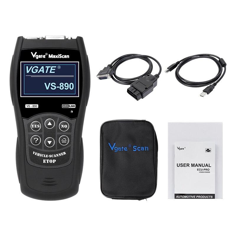 Vgate VS890 Maxiscan OBD2 CAN Car BUS Fault Reader Code Scanner Diagnostic Tool