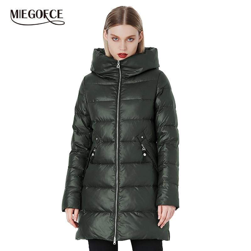 MIEGOFCE 2019 manteau d'hiver Parka pour femmes avec une capuche vestes et Parka femmes manteau militaire chapeau nouveau hiver mode manteau veste