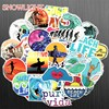 10/30/50 pcs/pack INS Fun Beach Surfing Stickers For Laptop Luggage Skateboard Guitar Motocycle Doodle Decor Surfboard Stickers