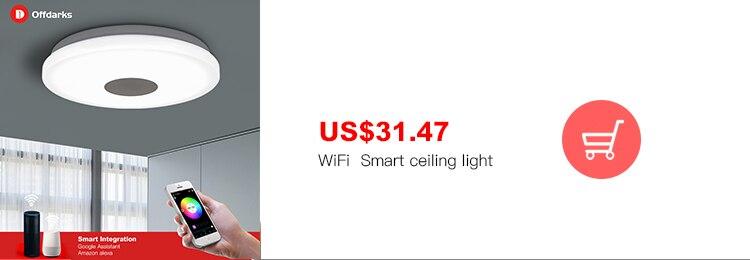 H4ae3d93f233c44b6aa3ea53cc3fce753d Modern LED ceiling Lights home lighting 25W 36W 52W APP Bluetooth Music light bedroom lamps Smart ceiling lamp