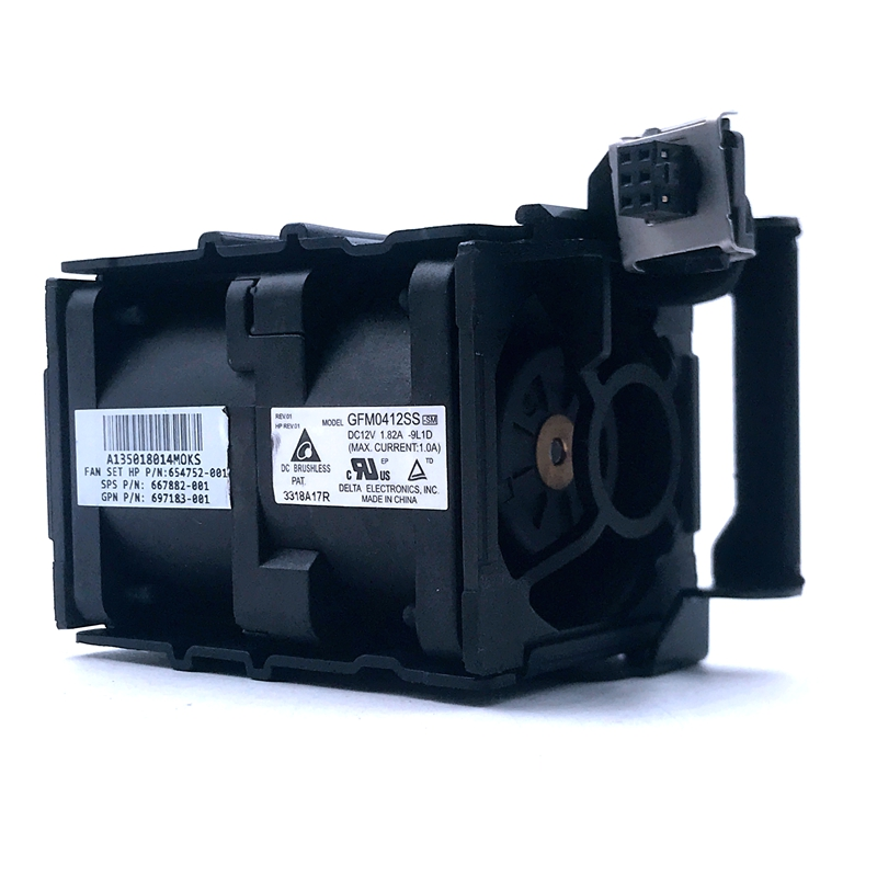 Cooling Fan For ProLiant DL360P DL360E G8 Fan Module 654752-002 654752-002 667882-001 697183-002 697183-001 GFM0412SS Fan