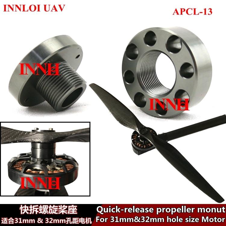 30 Inch Propeller Aluminum Alloy Quick Release  Holder Adapter For Big Propeller [INNLOI UAV Custom-made Agricultural UAV Drone]