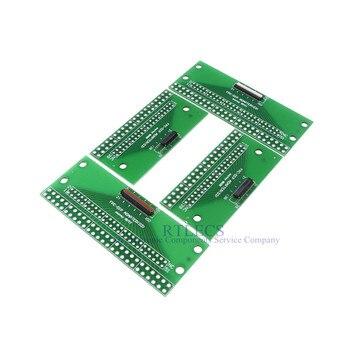 2 uds Cable plano Flexible 25 31 39 45 51 Pin 0,3mm adaptador a 2,0 2,54mm a través de agujeros PCB convertidor LVDS MIPI pantalla táctil