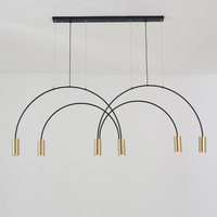 Estilu Curve A Chandelier Exhibition Room Restaurant Bar Counter A Living Room Model House Personality Originality Bend Tube