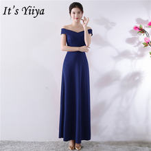 Женское длинное вечернее платье it's yiiya темно синее с