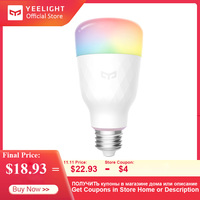2019 Yeelight Smart LED Bulb YLDP13YL 1S 8.5W RBGW Work With Mijia Homekit AC100 240V 1700K 6500K E27 For Desk Floor Table Lamp