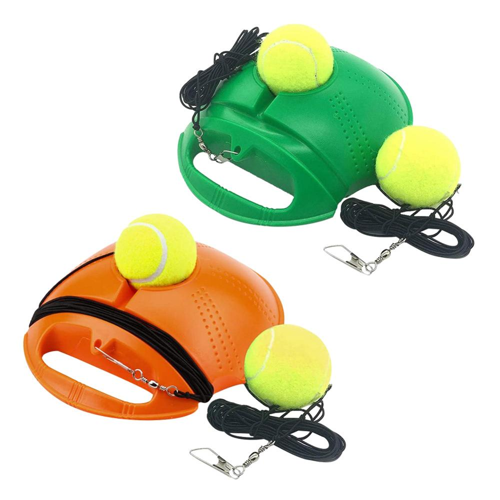 1set Tennis Trainer With 2 Ball Self-study Rebound Ball Baseboard Exercise Sports Sparring Device Tennis Training Equipment