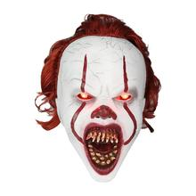 купить Clown Mask Halloween Horror Masks Cosplay Stephen King's It Pennywise Joker Scary Mascaras De Latex Realista Maske Costume Props дешево