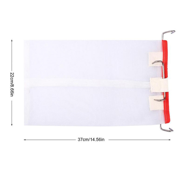 Beekeeping Tools New Portable Squre Net Filter with Hooks Honey Bee Filter Extractor Best Cappings Bag for Honey Filter