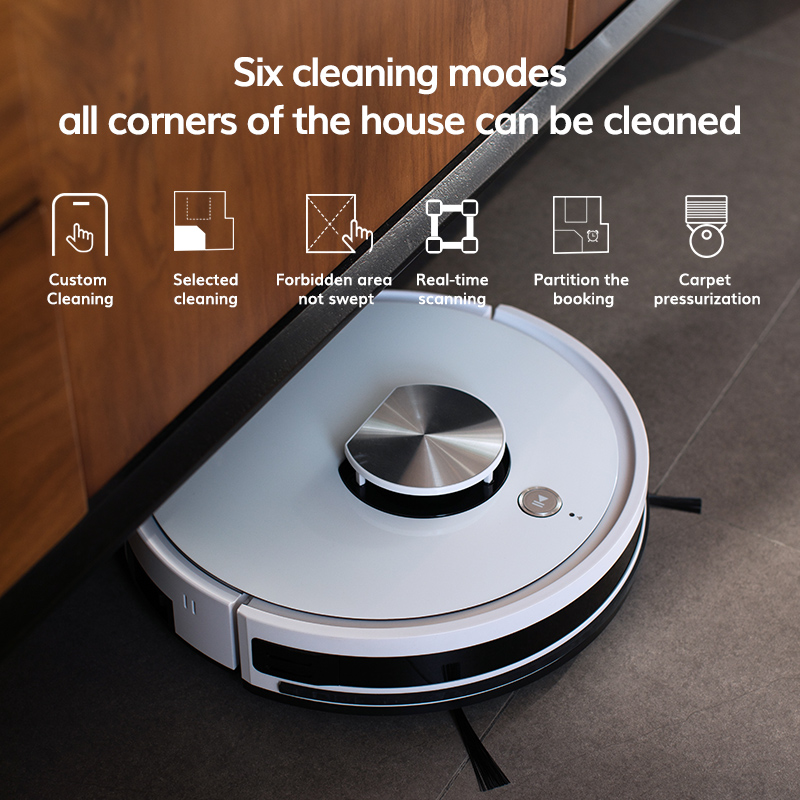 ILIFE L100 robot vacuum cleaner, LDS laser navigation, carpet pressurization, Smart Planned WIFI App Remote Control,Draw Clean 4