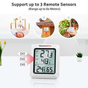 Image 4 - ThermoPro TP60 60M Wireless Digital Weather Station Hygrometer Indoor Outdoor Thermometer with Temperature Gauge Humidity Meter