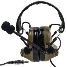 Тактический comtac ii страйкбол военная гарнитура звукосниматель