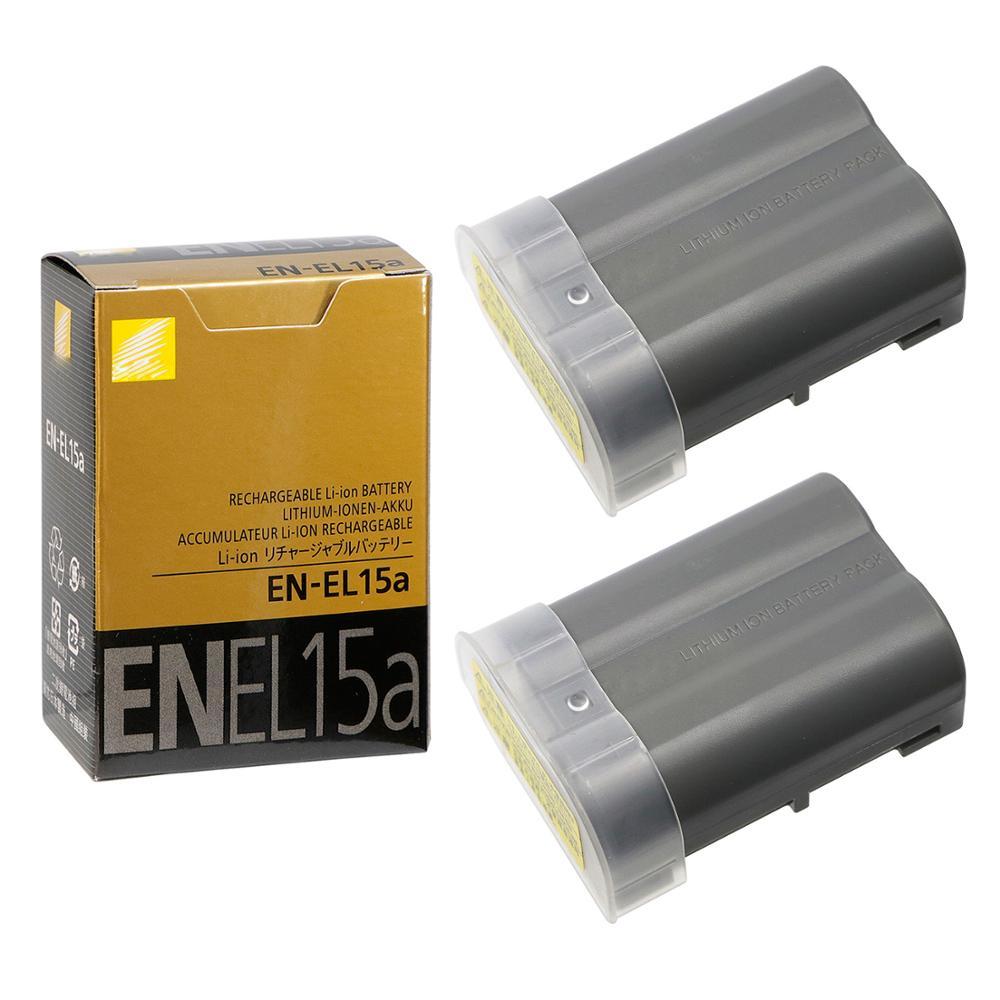 2 × 1900Mah EN-EL15a ENEL15a Camera Batterij Voor Nikon D850 D810 D750 D610 D7500 D7200 D7100 D200 D300 D700 d500 D600 MH-25a