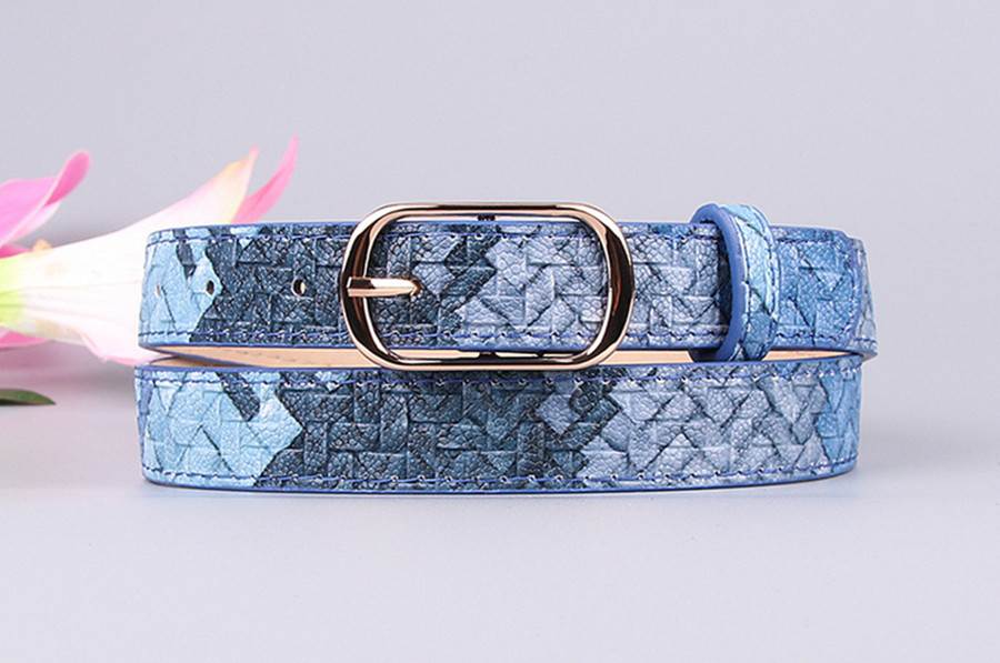 2020 New Hot Sale Women Decorative Imitation Woven Pattern Fashion Elegant Ladies Belt