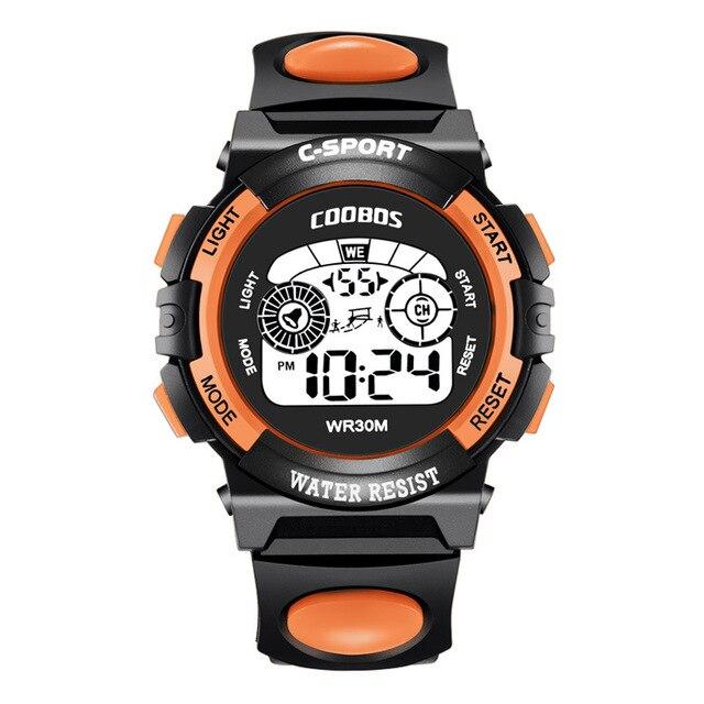Coolboss sport horloge lumineux enfants montres-bracelets multifonction numérique réveil enfants montre école étudiant heure A3361