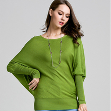 цены на Batwing Sleeve Knitted Sweaters Women O-Neck Solid Autumn Winter Pullovers Ladies Fashion Korean Style Jumper Mujer Pull Femme в интернет-магазинах