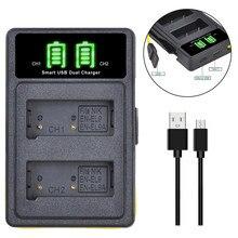 Double chargeur de batterie pour appareil photo numérique Nikon, EN-EL9 EN-EL9a, LED, modèle EL9, ENEL9a, Type C, D40, D40X, D60, D3000, D5000