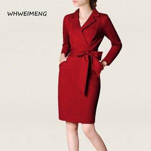 Image 2 - 日のドレス 2020 女性の事務服夏ドレス女性のためのフォーマルウェアvネックエレガントなローブ作業ドレスvestidos