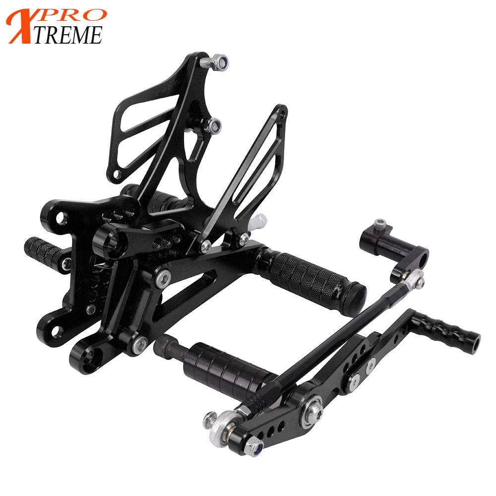 CNC Adjustable Motorcycle Billet Foot Pegs Pedals Rest For YAMAHA <font><b>R1</b></font> <font><b>2007</b></font>-2008 <font><b>2007</b></font> 2008 07 08 image