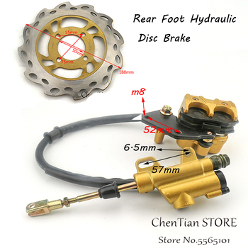 Dirt bike 110cc Rear Brake Assembly Off-road motorcycle accessories Apollo pump disc brake caliper assembly up and down the pump sr125 xv125 xv250 virago brake caliper assembly 4hm 2580t 00