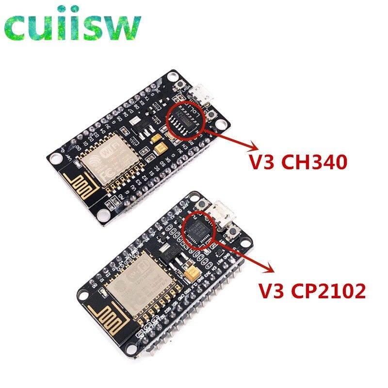 Беспроводной модуль V3 NodeMcu Lua WIFI 4 м байты Интернет вещей макетная плата на основе ESP8266 ESP-12E для совместимого arduino