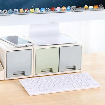 Podstawa monitora LCD uchwyt uchwyt z biurową szuflada schowek pudełko typu Organizer na pulpit VDX99 tanie i dobre opinie Etmakit CN (pochodzenie) 10 -20