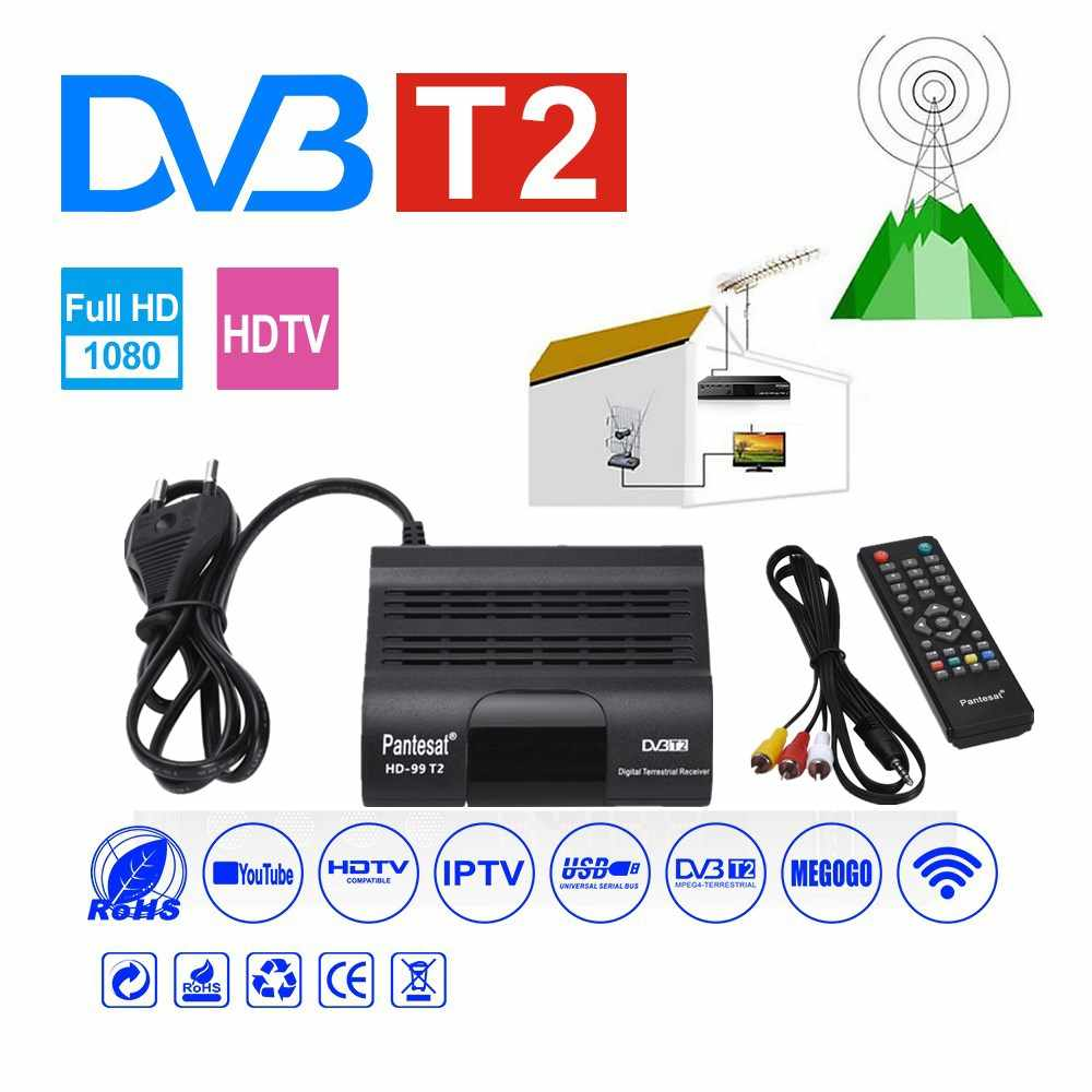 DVB HD-99 T2 receptor satelital Wifi TV Digital GRATIS caja DVB T2 DVBT2 sintonizador DVB C IPTV M3u Youtube Manual decodificador ruso