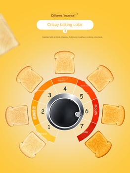 Donlim Toaster Household Breakfast Toaster 4 PCs Fully Automatic Toaster Breakfast machine Kitchen appliances Dropshipping 2