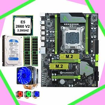 HUANANZHI X79 супер материнская плата игровой компьютер двойной M.2-1 шт. держатель для ТБ Сата жесткий диск процессор Ксеон E5 2660 V2 с кулер Оперативн...