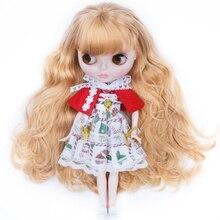 Boneca feita sob encomenda de blyth para a menina, presente para a coleção fhym boneca de néo blyth personalizada cara brilhante de nbl, bola de 1/6 ob24 bjd articulada