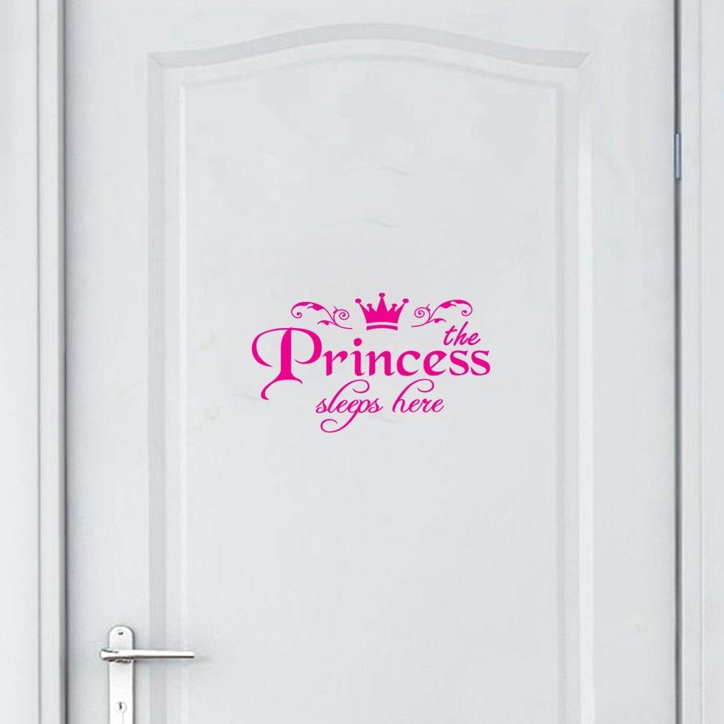 Наклейки для дома из ПВХ, наклейки для дверей принцесс, виниловые наклейки для девочек, дверей спальни, высокое качество