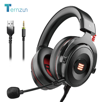 E900 Gaming Headset 7.1 Surround Wired Bass Gamer Headphones With Noise Cancelling Detachable Mic For PC/Xbox/PS4/Phone/Switch 1