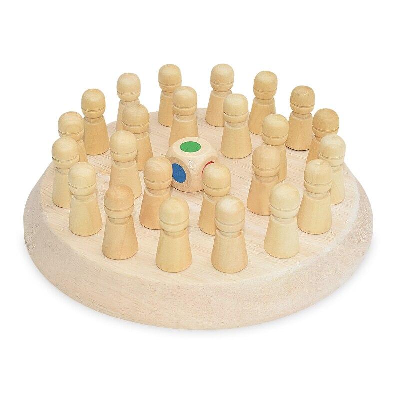 Crianças de madeira jogo de memória vara