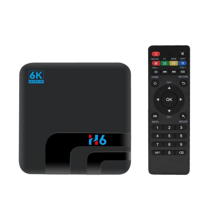 Top H6 4G Sim 4Gb 32Gb Smart Tv Box Android 8.1 6K Allwinner H6 Set Top Box 2.4G Wifi Bluetooth 4.0 Usb3.0 Media Player(Eu Plug)