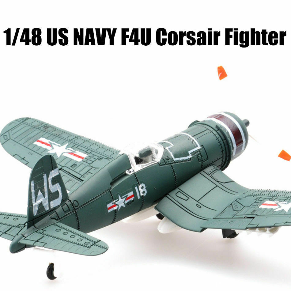 <font><b>1/48</b></font> scale World War US NAVY F4U Corsair Fighter Plastic Aircraft Airplane Assembly Model Airplane Random Color image