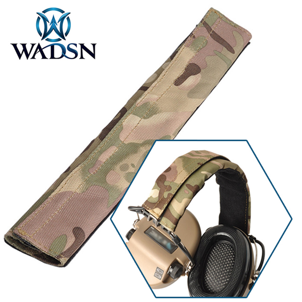 WADSN Tactical Headset Camo Headband (CP) For Comtac Airsoft Headphone Multicam Hunting Headsets Head Band Earphone Accessories