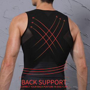 Image 4 - Mannen Afslanken Body Shaper Belly Controle Taille Trainer Man Shapewear Modellering Ondergoed Shapers Corrigerende Houding Vest Corset