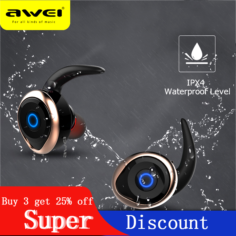 AWEI <font><b>TWS</b></font> Mini Wireless Bluetooth Earphones Sport Wireless Earbuds For Mobile Phone Telephone Wireless Earpiece For Xiaomi iPhone image