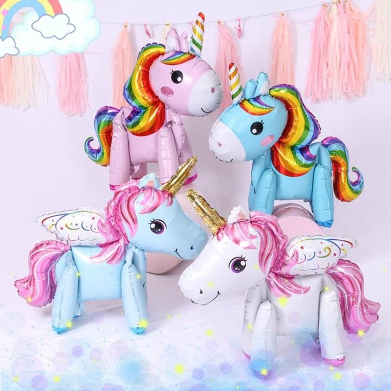 1PC 57*58CM Pink Little Horse Balloon Unicorn Helium Foil Balloon Kids Toys Wedding Birthday Animal Party Decor Supplies