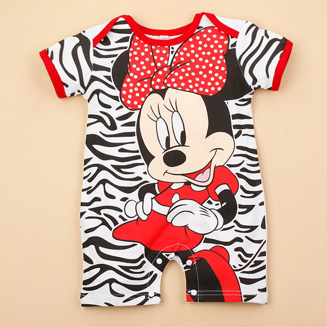 Newborn Mickey Baby Rompers Disney Baby Girl Clothes Boy Clothing Roupas Bebe Infant Jumpsuits Outfits Minnie Kids Christmas 2