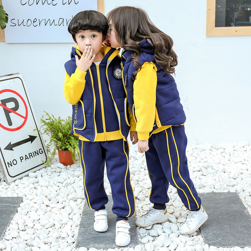 Kindergarten Suit Fall And Winter Clothes Primary School STUDENT'S School Uniform Business Attire 2018 New Style British Style W