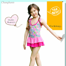 цена на Girl Swimsuit Kids One Piece Swimwear 1-10 Y Children Swimming wear Child Bathing suits Little girl Summer Vocation Suit