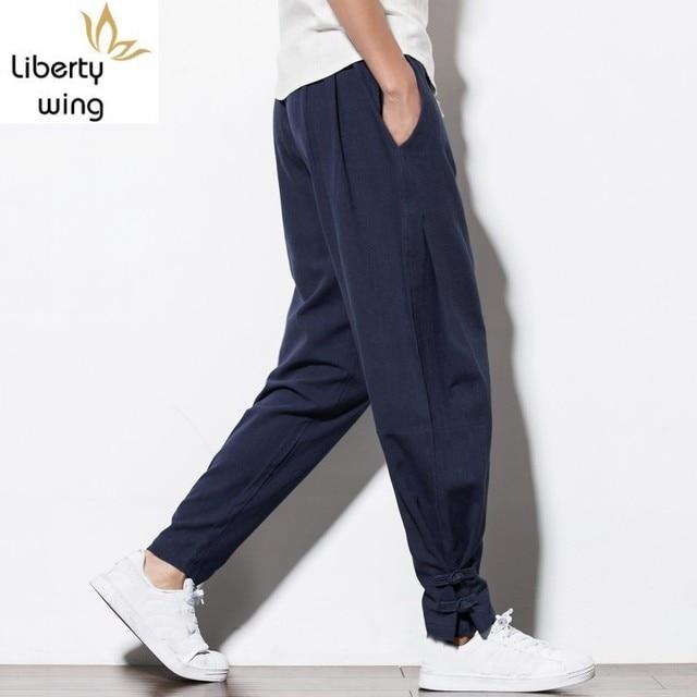 New Brand Man Clothes 2020 Autumn Male Trousers Loose Cotton Joggers Track Casual Sweatpants Winter Men Plus Velvet Pants 1