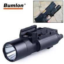 500 Lumens Tactical X300 Ultra Pistol Gun Light X300U Weapon Light Flashlight Glock 19 Light for Airsoft Hunting Lantern все цены