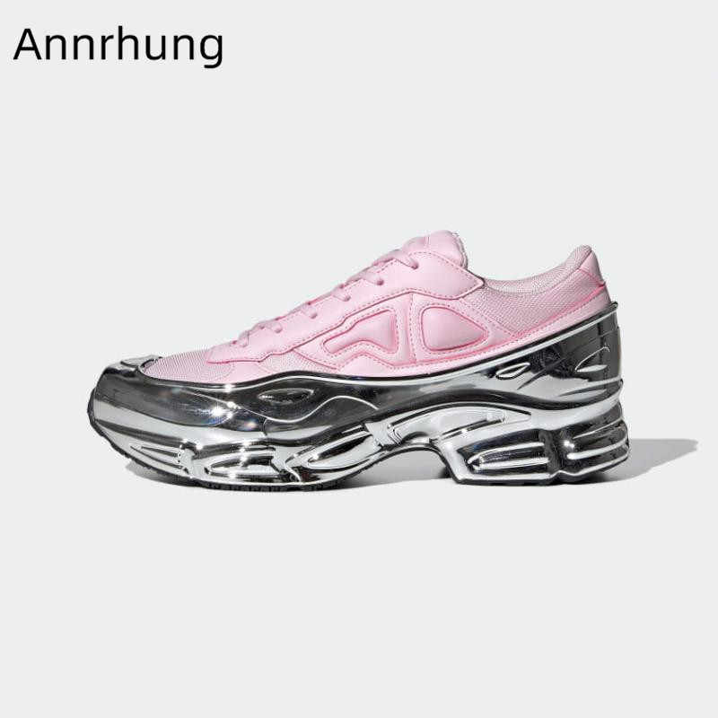 Pink Mirror Thick Bottom Sneakers Woman