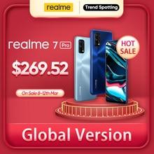Realme 7 Pro küresel sürüm Smartphone 65W hızlı şarj parmak izi kilidini tam ekran cep telefonu snapdragon 720G oyun cep telefonu