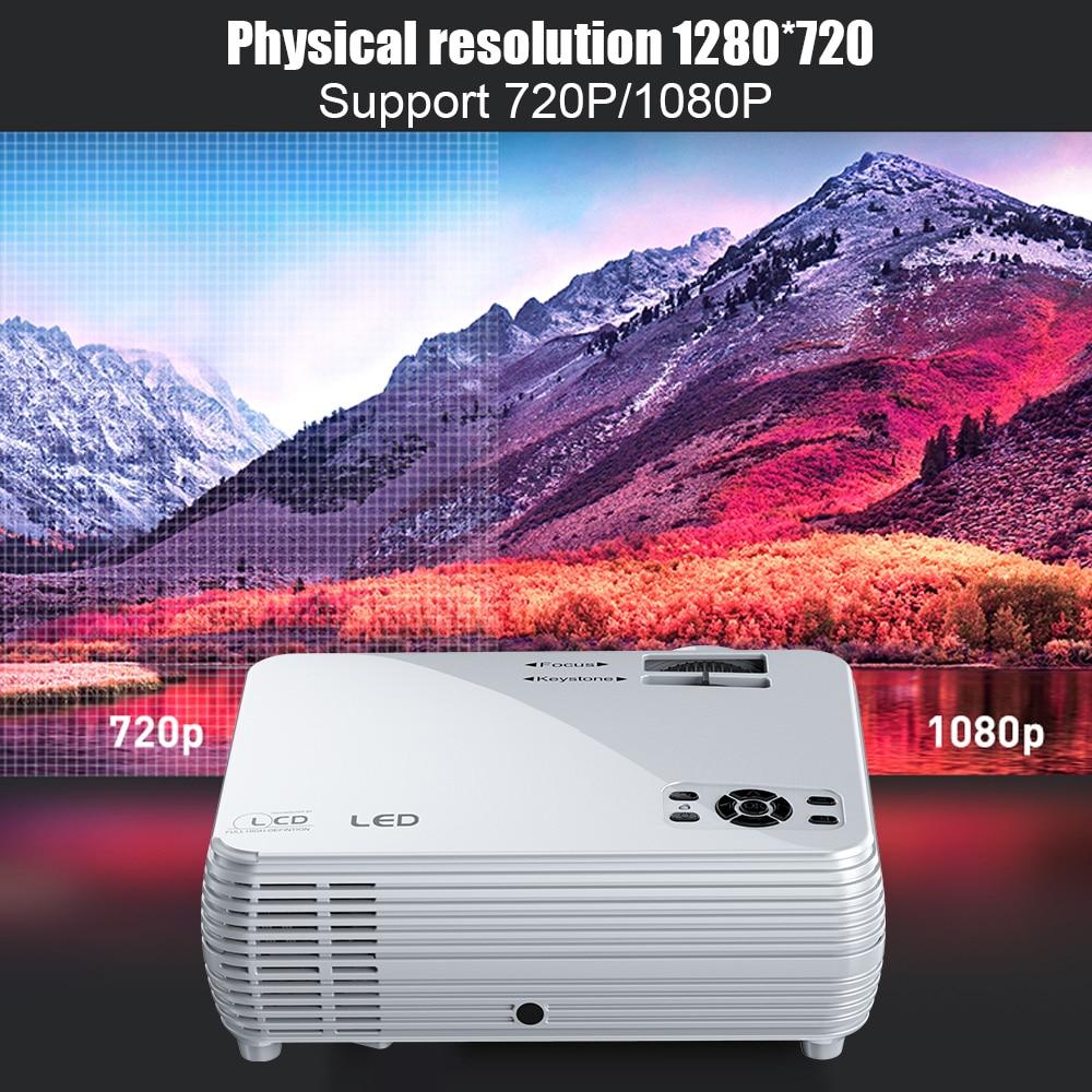 Potente Mini Proiettore X5 + 1280*720P 2600L 1080 P Hd di Sostegno Portatile Beamer Compatibile con Tv Stick, PS4, Hdmi, Vga, E Usb - 3