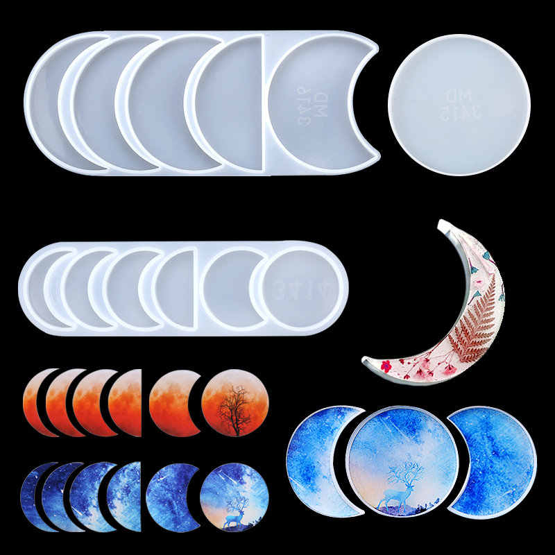 Epoxy Casting Silicone Mould Resin Molds Lunar Eclipse Resin Mold Clock Molds