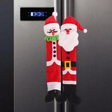 3 шт./компл. рождественские украшения дверные ручки крышки для Кухня холодильник микроволновая печь